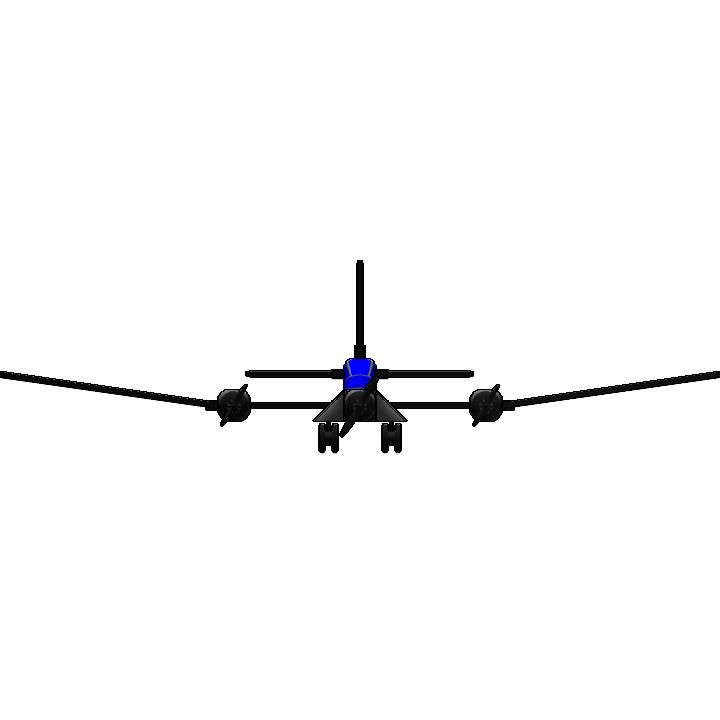 SimplePlanes | Triple prop plane