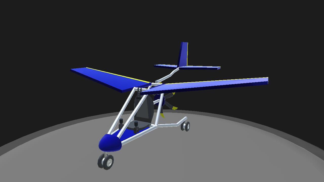 SimplePlanes | blue bird ultralight aircraft