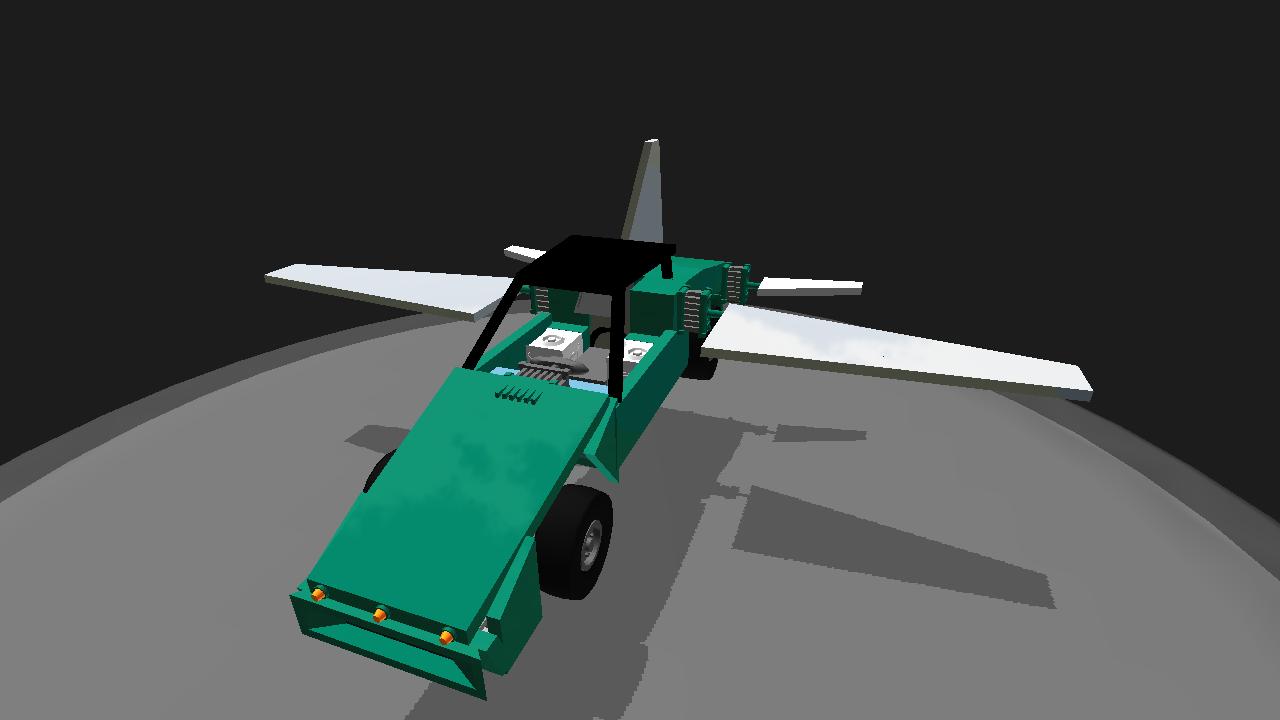 SimplePlanes | ON7 (FLYING CAR),3D COCKPIT