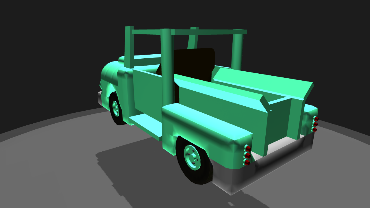Simpleplanes 1955 Ford F100 Modernized Side View