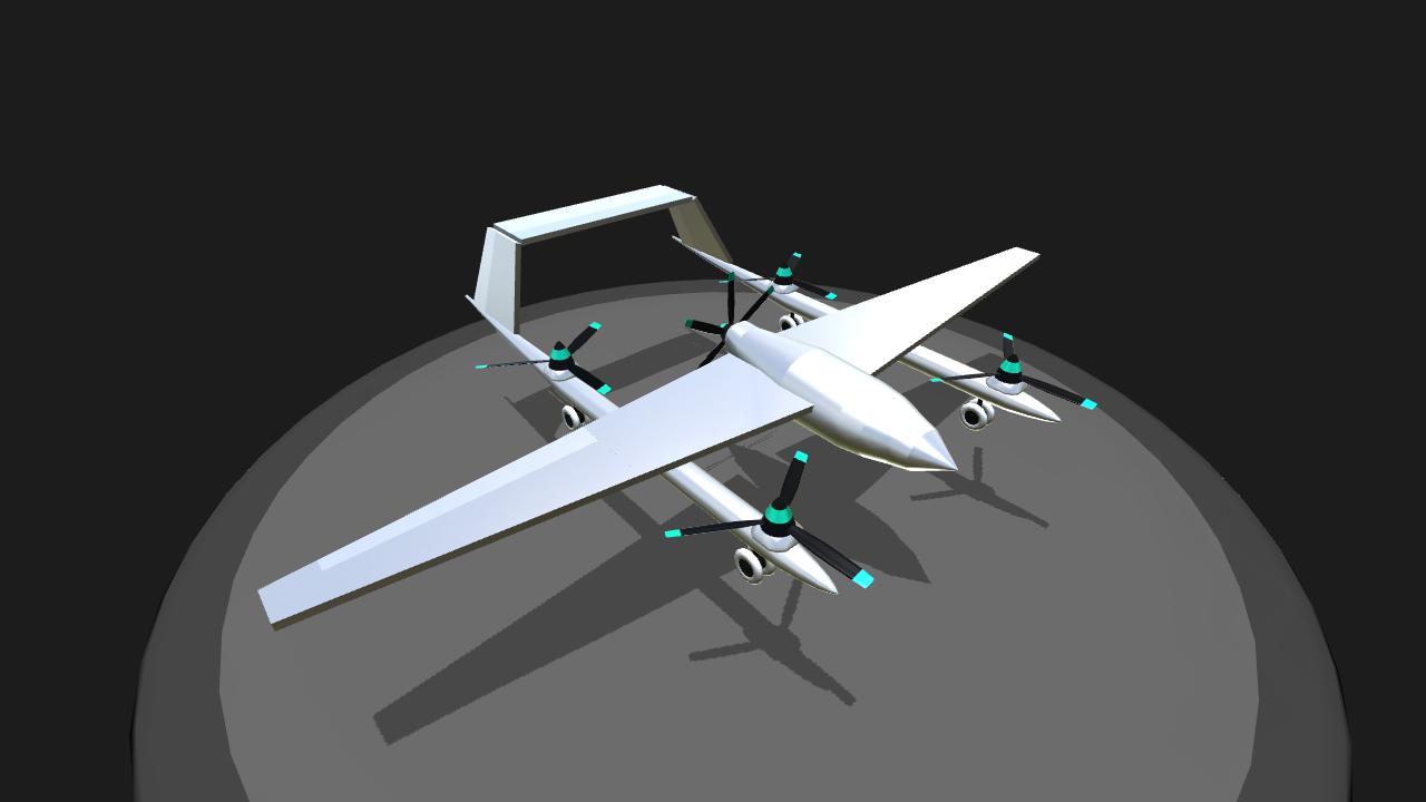 SimplePlanes | Type Q VTOL fixed-wing UAV