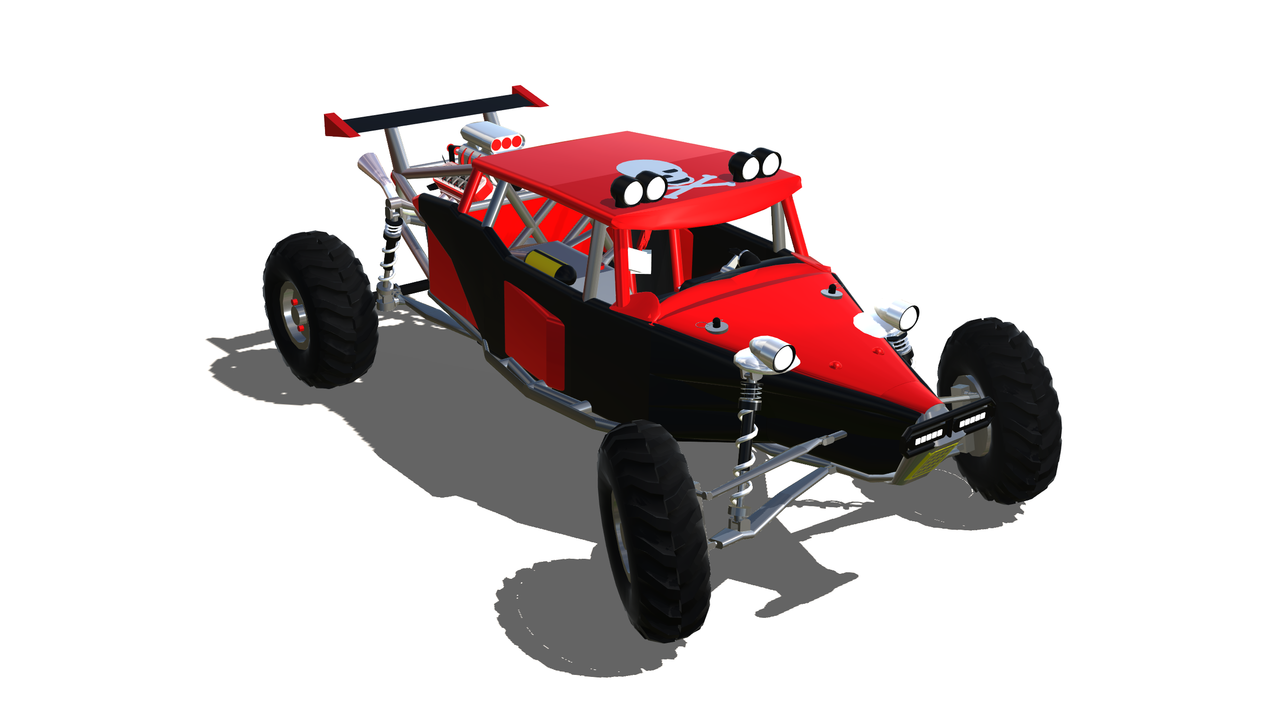 SimplePlanes | Scorpion V8 Sandrail Buggy