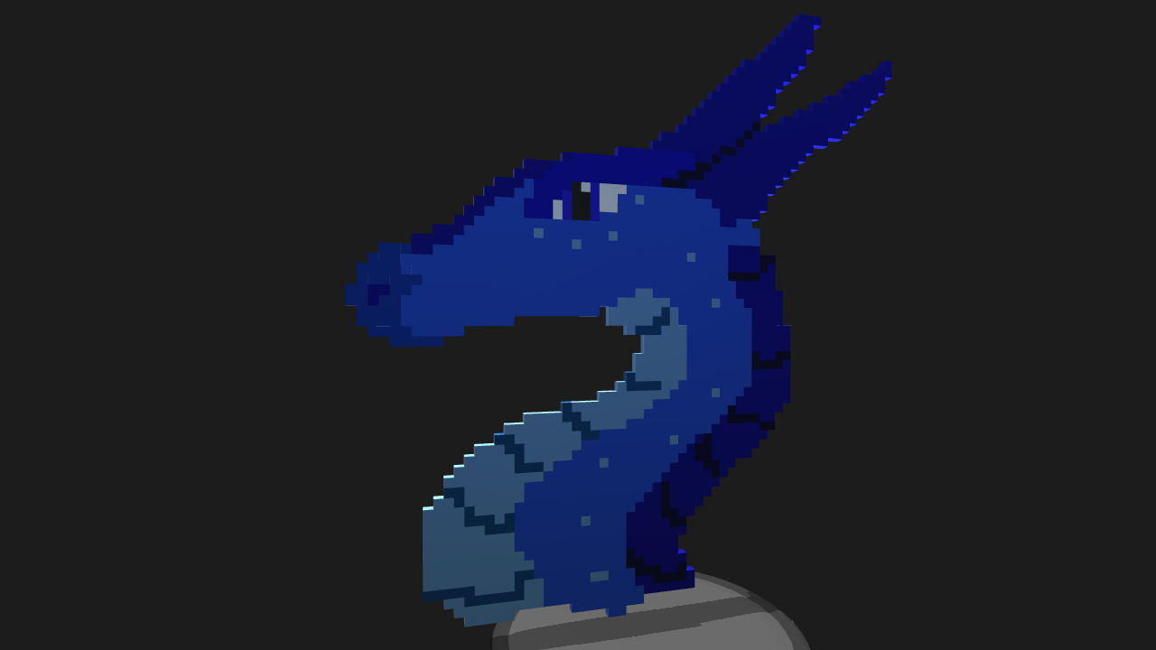 Simpleplanes Pixel Art Dragon Head