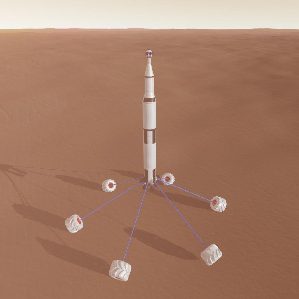 Saturn V Rocket Landed On Mars