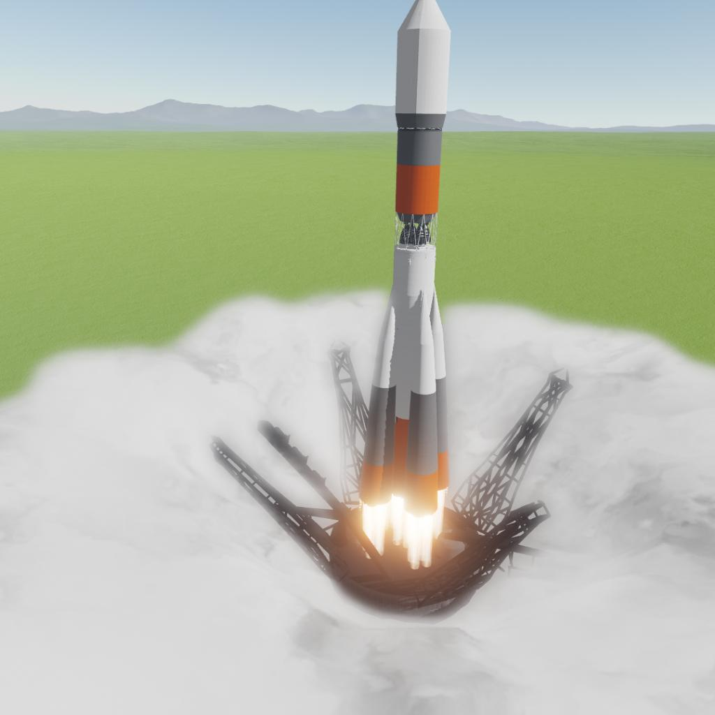 SimpleRockets 2 | Soyuz with Accurate launch Pad