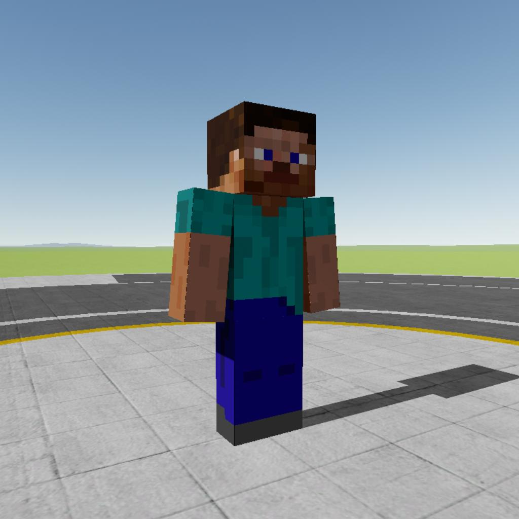 Simplerockets 2 Minecraft Steve High Simulation Static Model